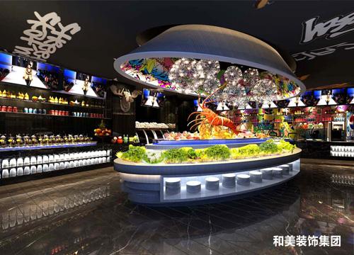 世贸广场自助火锅餐厅装饰工程